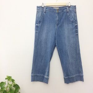 Free People High Waisted Cropped Wide Leg Jeans